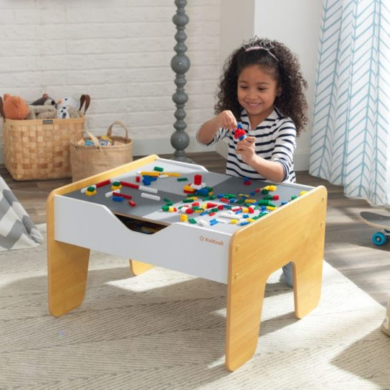 2-in-1 Activity Playtable with Board - Grey/Natural by KidKraft