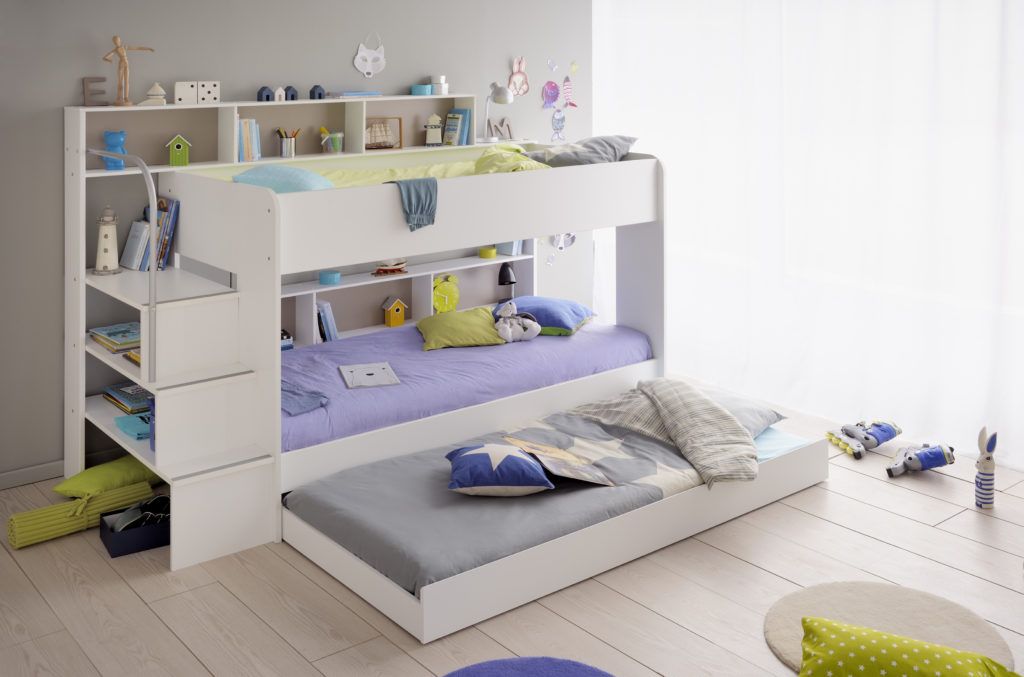 Shared Space for Siblings Anderson Bunk Bed, White