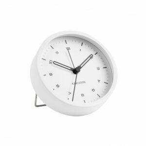 Tinge Alarm Clock - White