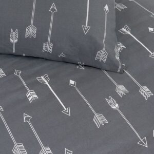 Arrows Duvet Set - Grey (Single)