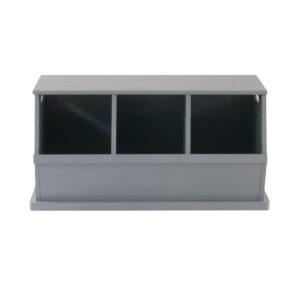 Camden Triple Stacking Storage Trunk - Grey