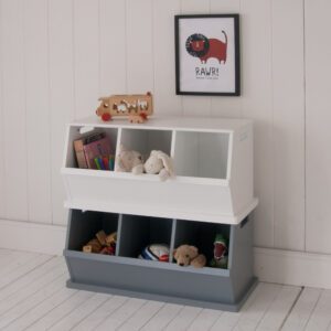 Camden Triple Stacking Storage Trunk - Grey
