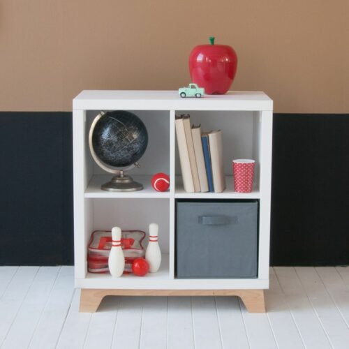 Edit Storage Bookcase - White/Natural by Little Folks