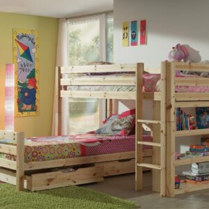 Pino L-Shaped Bunk Bed - Natural