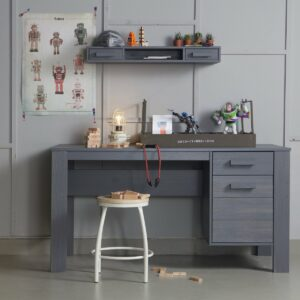 Dennis Desk - Brushed Steel Grey