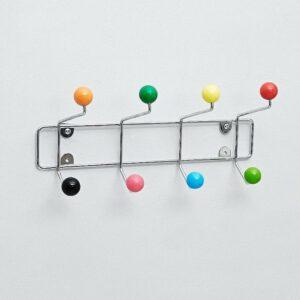 Colourburst Coat Rack with 8 Knobs