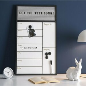 Weekly Planner with Message Board