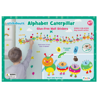 Alphabet Caterpillar Wall Stickers3