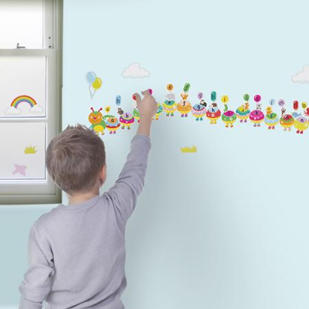 Alphabet Caterpillar Wall Stickers3