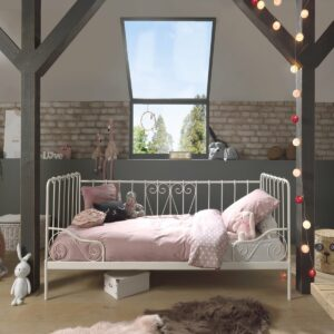 Alice Metal Day Bed incl Slats - White (Single)