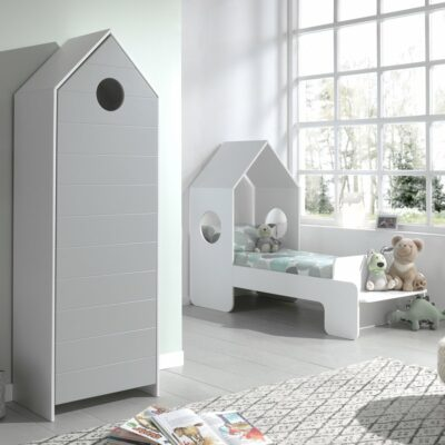 Casa Storage Unit with Grey Door (horizontal grooves)
