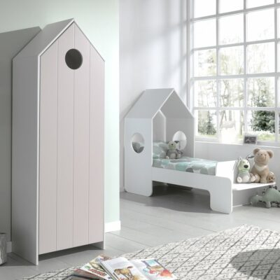 Casa Storage Unit with Pink Door (vertical grooves)