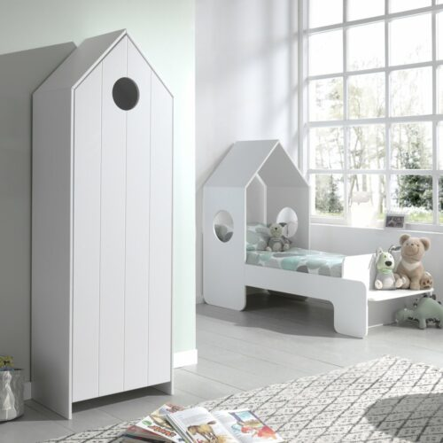 Casa Storage Unit with White Door (vertical grooves)