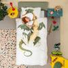 Dragon Duvet Set - White (Single)