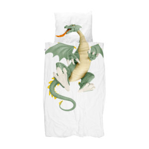 Dragon Duvet Set - White (Single)