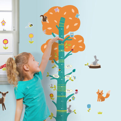 Nature Height & Growth Chart Wall Stickers