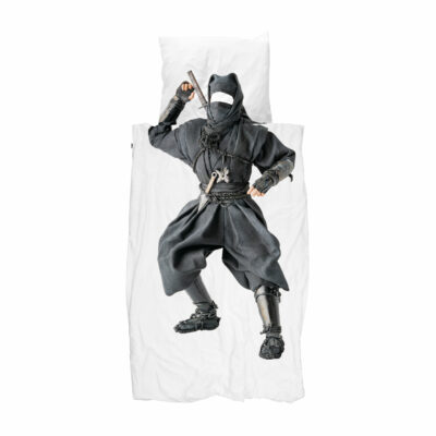 Ninja Duvet Set - White (Single)