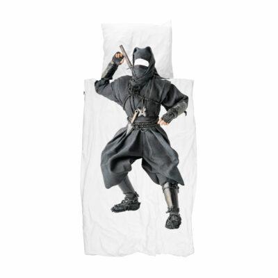 Ninja Duvet Set - White (Single)