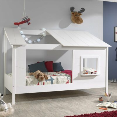 """Water Mill House Bed with """"Skylight"""" & Window - White"""