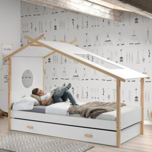 Cocoon Bed - White/Natural