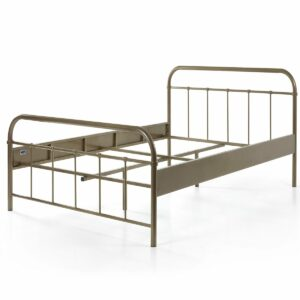 Boston Metal Bed incl Slats - Bronze (Double, Extra Length)