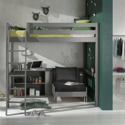 Standard Bookcase with 2 Shelves - Grey