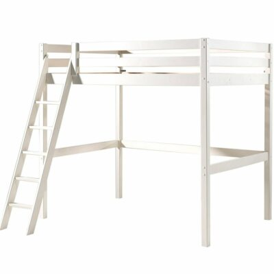 Mezzanine High Sleeper Bed - White (Double, Extra Length)