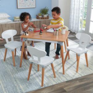 Mid Century Kid Play Table & 4 Chair Set by KidKraft