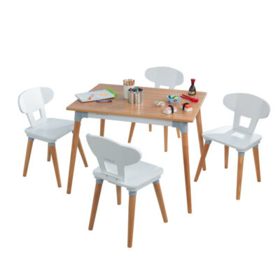 Mid Century Kid Play Table & 4 Chair Set by KidKraft