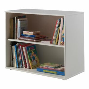 Standard Bookcase with 2 Shelves - White