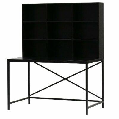 Edgar Wood & Metal Desk - Black