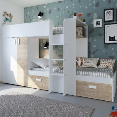 Bolton Bunk Bed (Bo1) - White/Bardolino by Trasman