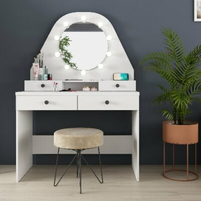 Pia Dressing Table - White by Trasman