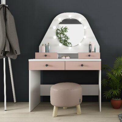 Pia Dressing Table - Pink/White by Trasman