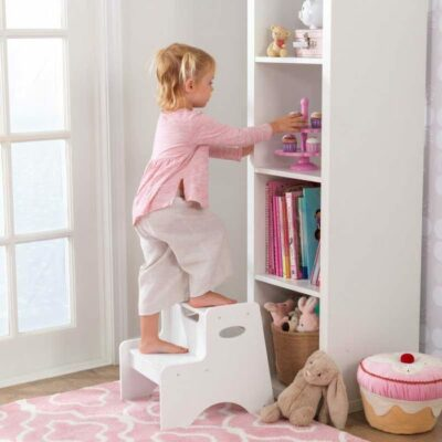 Two Step Stool - White by KidKraft
