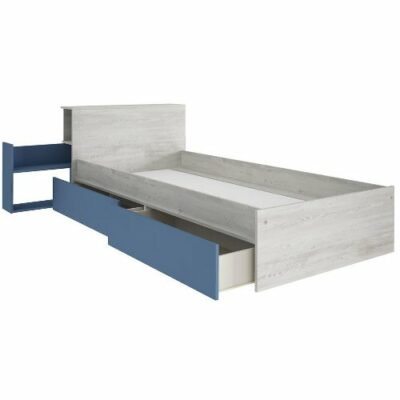 Jazz Single Bed with Nightstand & Underbed Drawers - Cascina/Blue by Trasman