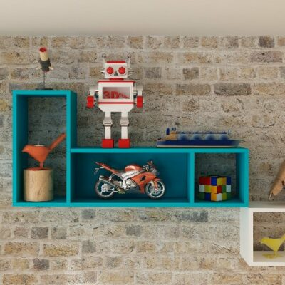 Lane Wall Shelf - Caribbean Blue by Trasman