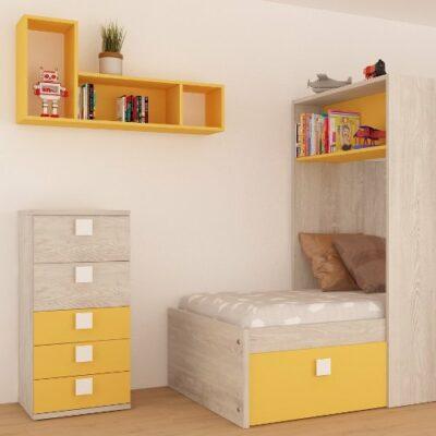Lane Wall Shelf - Saffron Yellow by Trasman