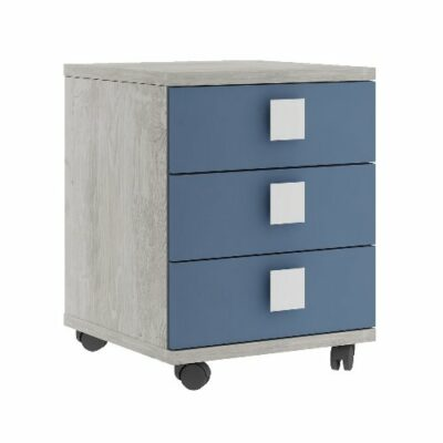 Nightstand with 3 Drawers - Cascina/Blue by Trasman