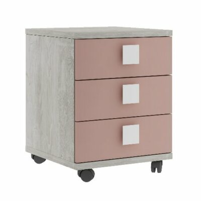Nightstand with 3 Drawers - Cascina/Pink by Trasman