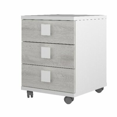 Nightstand with 3 Drawers - White/Cascina by Trasman