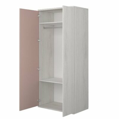 Wardrobe with 2 Doors - Cascina/Pink by Trasman