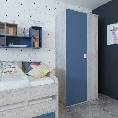 Wardrobe with 2 Doors - Cascina/Blue by Trasman