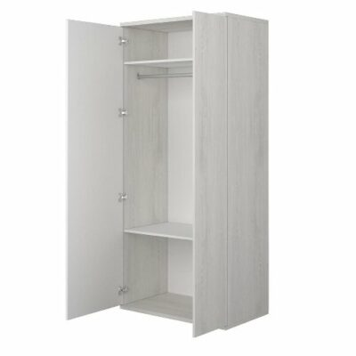Wardrobe with 2 Doors - Cascina/White by Trasman