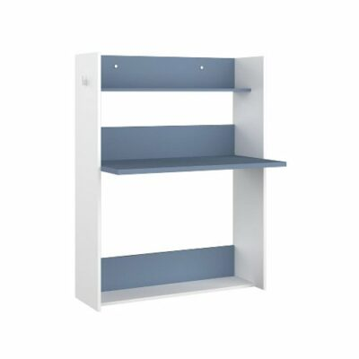 Warner Wall Desk (Bo0)- White/Blue by Trasman