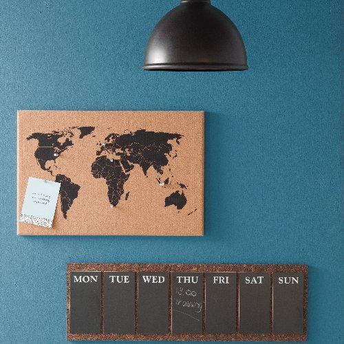 World Map Corkboard