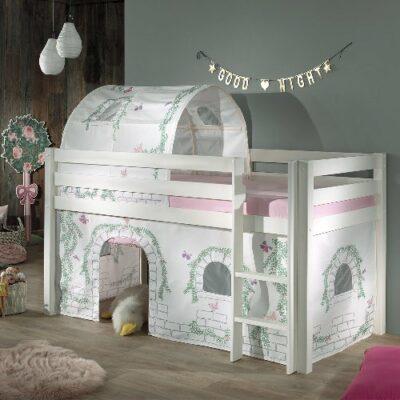 Secret Garden Mid Sleeper Bed - White