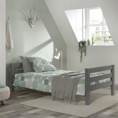 Standard Single Bed - Grey