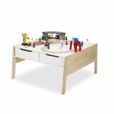 Wooden Art & Activity Table with 4 Drawers