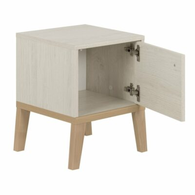 Alika Nightstand with Reversible Door - Whitewashed Chestnut by Gami
